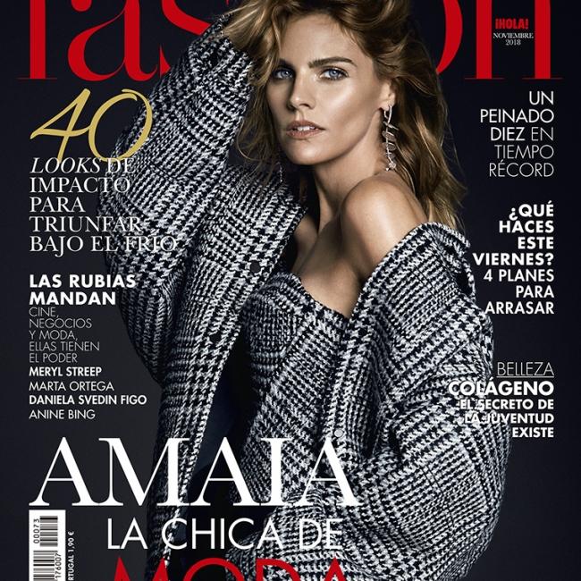 Valero Rioja Photography cover Amaia Salamanca Fashion Magazine