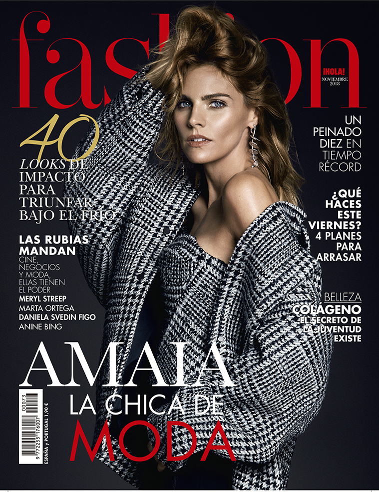 Valero Rioja Photography cover Amaia Salamanca Fashion Magazine